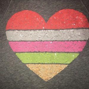 Victoria's Secret sequins heart hoodie size xs